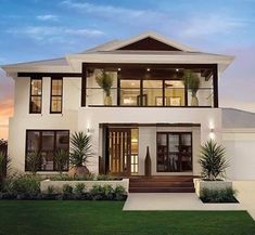 Amazing modern home exterior from Plantation Homes. I love a nice white house! {Rosemary + Gold} Source by botulique Modern Entrance, House Entrance, Dream House Exterior, Exterior House Colors, Exterior Homes, Diy Exterior, Exterior Remodel, Modern Exterior, Exterior Design