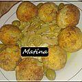 Sfiria batata, Croquettes de PDT et leur sauce poulet et champignons - Horizon Culinaire