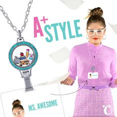 Start the school year off right with an A+ in style! Coming soon... Lanyard Lockets for the workplace!  #origamiowl #loveo2 #lanyard #teacher #badge