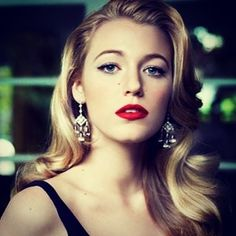 Blake Lively in Rock Crystal and Diamonds Chandelier Earrings for @Vogue Magazine