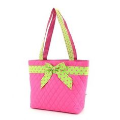 On Sale! Personalized Belvah Handbag Pink Lime Custom Embroidered with Name or Monogram