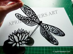 Image result for chinese paper cut dragon fly