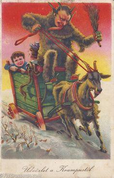 Vintage Christmas. Üdvözlet a Krampusztól