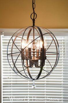 orb chandelier diy