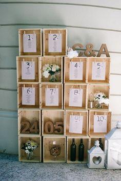 wine crates seating plan // photo: serena cevenini