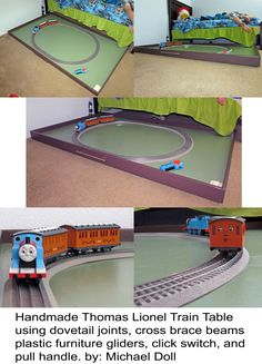 ecdee635bf809f My husband made this train table for our son s Lionel Thomas the Train set.  It
