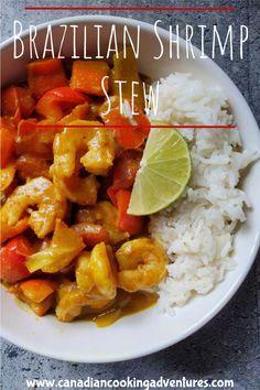 Brazilian Shrimp Stew #coconut #shrimp #curry #Brazilian #seafood #fish #stew #milk #easy #lime Shrimp Stew, Shrimp Curry, Fish Stew, Budget Recipes, Easy Recipes, Easy Meals, Healthy Recipes, Curry Recipes, Chili Recipes