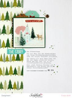 Das Glitterhaus   Scrapbooking Layout   Dezember-Kit der Scrapbook Werkstatt