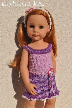 TUTO N° 142 - Tricot-crochet pour poupée Gotz 50cm