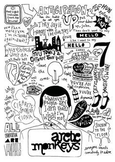 ARCTIC MONKEYS Whatever People Say I Am, That's What I'm Not Lyrics Compilation Poster