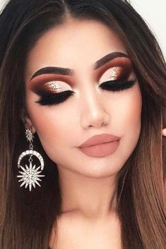 33 Best Winter Makeup Looks for the Holiday Season ★ Amazing Winter Makeup Ide. - 33 Best Winter Makeup Looks for the Holiday Season ★ Amazing Winter Makeup Ideas picture 3 ★ Se - Makeup Looks Winter, Holiday Makeup Looks, Makeup Eye Looks, Dark Makeup, Cute Makeup, Glam Makeup, Gorgeous Makeup, Pretty Makeup, Eyeshadow Makeup