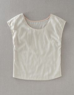 Modern Woven Top in Ivory