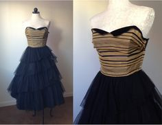 """LOVE this amazing dress from Off Broadway, my local vintage shop. You, too, can now buy dresses from them on Etsy. """"Vintage 40s Party Dress - We need to find the right occasion for this one!"""""""