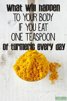 What Will Happen To Your Body If You Eat One Teaspoon of ‪Turmeric‬ Every Day #weightlosstips