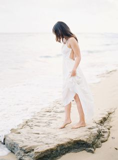 #beach #engagement dress. Romantic Oahu Love Session | Photography By The Great Romance