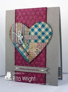 Quilted Valentine by kyann22 - Cards and Paper Crafts at Splitcoaststampers