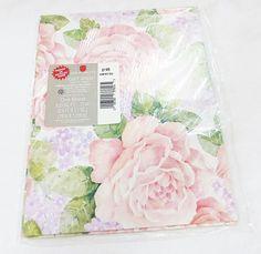 Vintage roses floral american greetings gift wrap one sheet sealed