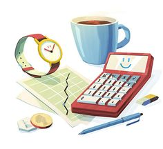 Save time and money  Business Mail and Marketing Services   Illustration by Steve Scott  http://www.stevescott.com.au/