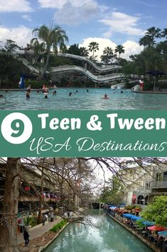 Want to take your teenagers on vacation? Here are the Top 9 destinations for teens & tweens in the United States. Top Family Vacations, Best Summer Vacations, Vacations In The Us, Spring Break Destinations, Best Vacation Destinations, Vacation Places, Dream Vacations, Best Family Vacation Spots, Family Travel