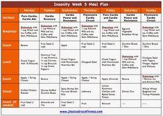 p90x/insanity meal plan melanie mitro - Google Search