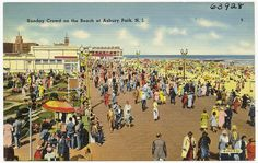 Sunday crowd on the beach at Asbury Park, N. Boston Public Library, Asbury Park, New Jersey, 2 In, Crowd, Sunday, Scene, Beach, Domingo