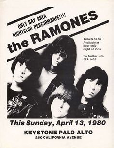 The Ramones Punk Flyer / Handbill