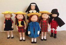 Madeline & Friends Dolls Chloe, Nicole, Danielle, Pepito & Miss Clavel by Eden