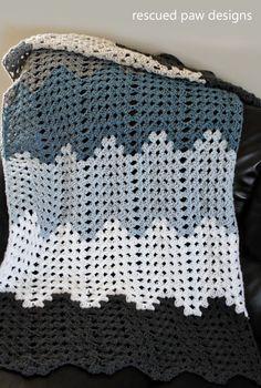 Rippling Trellis Crochet Blanket :: Rescued Paw Designs ༺✿ƬⱤღ  https://www.pinterest.com/teretegui/✿༻