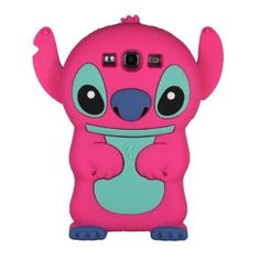 Hot Pink Cute 3D Stitch with Movable Ears Silicon Case for Samsung Galaxy S3 i9300