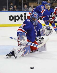 NEW YORK, NY - FEBRUARY 19: Henrik Lundqvist #30 of the New York Rangers skates against the Washington Capitals at Madison Square Garden on February 19, 2017 in New York City. The Rangers defeated the Capitals 2-1. (Photo by Bruce Bennett/Getty Images)