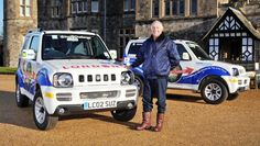 Four retired Suzuki Jimny fans are now well on their way around the planet on a huge fundraising tour for their charity www. Jimny Suzuki, Wayne's World, First Car, Offroad, Samurai, Challenges, Guys, Life, Off Road