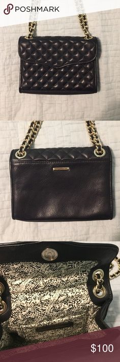 REBECCA MINKOFF MINI QUILTED AFFAIR This is the Rebecca Minkoff Mini Quilted Affair in the color black with gold chain strap. Used but in great condition. I only used this bag less than 5 times. Please consider this is the mini it is a very small bag. Can only fit phone, a few cards and maybe a lipstick. Still a great bag to go out with! Make me an offer I really want to get rid of this bag because I never use it anymore. Rebecca Minkoff Bags Crossbody Bags