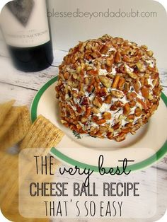 Easiest and BEST Cheese Ball Recipe The BEST cheese ball recipe that is so easy! Only 5 ingredients!The BEST cheese ball recipe that is so easy! Only 5 ingredients! Yummy Appetizers, Appetizer Recipes, Snack Recipes, Cooking Recipes, Snacks, Party Recipes, Party Appetizers, Dip Recipes, Healthy Recipes