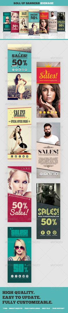 Roll Up Banners Signage Template #design Download: http://graphicriver.net/item/roll-up-banners-signage/8375741?ref=ksioks