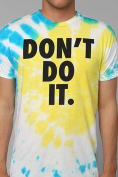 Don't Do It Tie-Dye Tee #urbanoutfitters