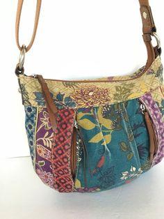 Fossil Bag Crossbody Messenger Canvas Designer Fashion Hip Boho Multicolor #Fossil #MessengerCrossBody