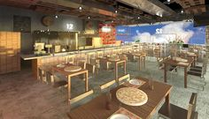 Restaurante-Terraza-Bar Aguascalientes, Mex.------Restaurant Terrace Bar Conference Room, Bar, Table, Furniture, Home Decor, Restaurants, Blue Prints, Decoration Home, Room Decor