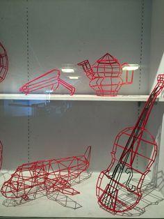 Plastic Straw Sculptures: University of Rhode Island