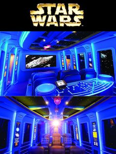 Ideas for man cave! Home Theater Setup, At Home Movie Theater, Home Theater Rooms, Home Theater Design, Diy Hacks, Man Cave And Workshop, Star Wars Gadgets, Mansion Homes, Wallpaper Wall