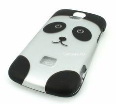 $11.99 Huawei MyTouch Q 2 II U8730 Panda Silver Black Face Hard Cover Case - http://www.cellcasesusa.com/