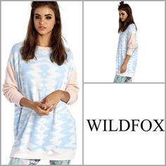 ❄️WildFox Moroccan Road Trip SweaterTRADED Beautiful Pastel Graphic. A little more rich than the pictures depict. This is really a pretty and VERY soft sweater. It is oversized as all the road trip sweaters are. Would fit all sizes including a large. Size Small Wildfox Tops Sweatshirts & Hoodies