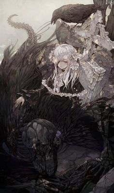 Best ideas for wallpaper anime dark wallpapers Art Manga, Anime Art Girl, Manga Anime, Anime Girls, Dark Anime Art, Gothic Anime, Gothic Lolita, Anime Angel, Illustration Design Graphique