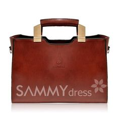 $15.55 Vintage Women's Tote Bag With Solid Color and Zip Design