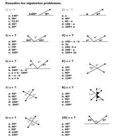 Newton Matemáticas: Ejercicios de ángulos complementarios y suplementarios