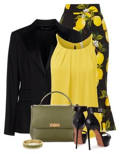 A fashion look from May 2016 featuring Dolce&Gabbana blazers, Dolce&Gabbana skirts and Givenchy sandals. Browse and shop related looks. Office Fashion, Business Fashion, Work Fashion, Skirt Fashion, Fashion Dresses, Classy Dress, Classy Outfits, Stylish Outfits, Elegantes Outfit