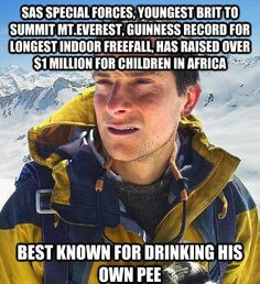 Bear Grylls funny meme