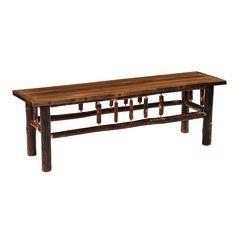 Hickory Bench with Barnwood Artisan Seat