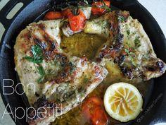 Lemon Herb Braised Chicken with Cherry Tomatoes
