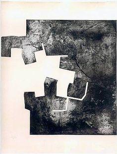 (figure ground experiments - port of. ) Homenaje a Rembrandt II 1976 Eduardo Chillida (Spanish, Etching on paper h: 160 x w: 120 cm / h: 63 x w: in Rembrandt, Spanish Artists, Sketchbook Inspiration, Art Plastique, Installation Art, Collage Art, Printmaking, Paper Art, Art Drawings