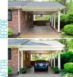 DIY ~ Building a Garage or Carport Pergola ~ via Young House Love